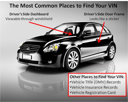 Where is the VIN located on your vehicle?